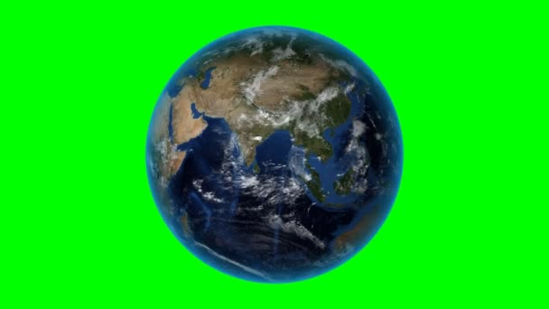 Cameroon. 3D Earth in space - zoom in on Cameroon outlined. Green screen background