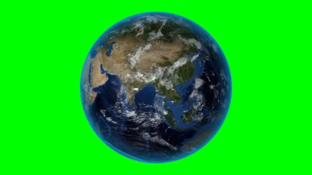 Israel. 3D Earth in space - zoom in on Israel outlined. Green screen background