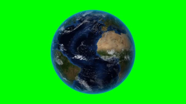 Jamaica. 3D Earth in space - zoom in on Jamaica outlined. Green screen background
