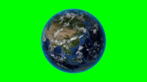 United Kingdom. 3D Earth in space - zoom in on United Kingdom outlined. Green screen background