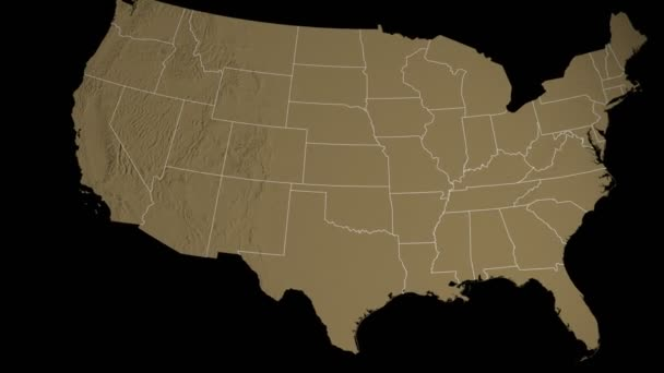 Arizona state extruded on the elevation map of the USA isolated on ...