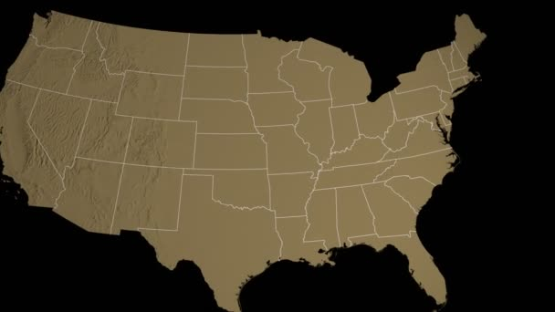 Delaware State Extruded On The Elevation Map Of The Usa Isolated On