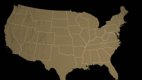 Michigan State Extruded On The Elevation Map Of The Usa Isolated On