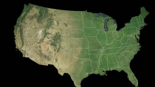 Free Wyoming State Map.Wyoming State Extruded On The Satellite Map Of The Usa Isolated On