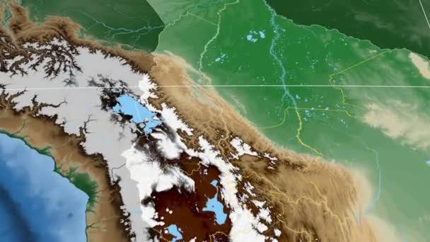 La Paz - Bolivia  extruded. Bumps shaded