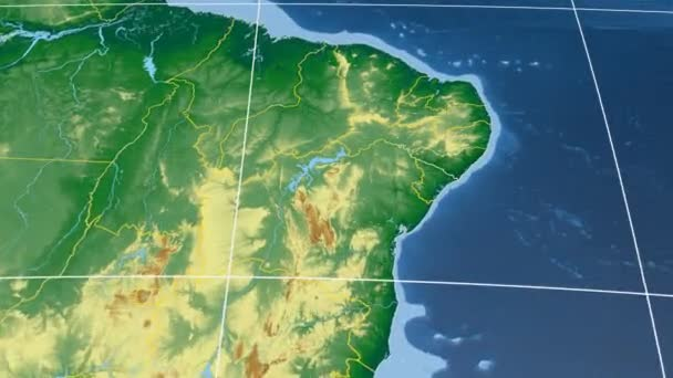 Alagoas - Brazil  extruded. Bumps shaded
