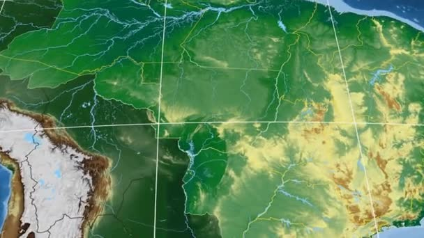 Mato Grosso - Brazil  extruded. Bumps shaded