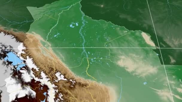 El Beni - Bolivia  extruded. Bumps shaded
