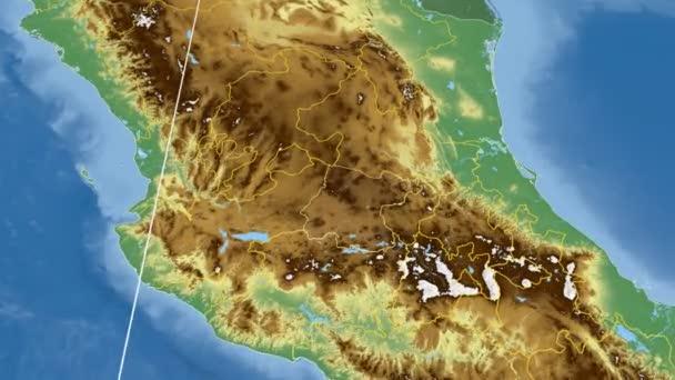 Guanajuato - Mexico region extruded. Bumps shaded
