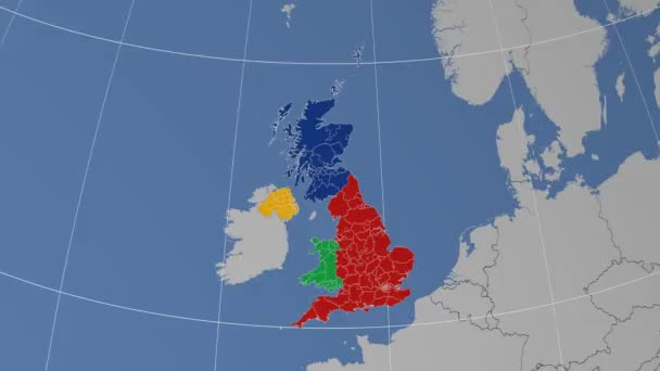 Map Of England Zoom.Zoom In On Berkshire United Kingdom England Extruded Highlighted And Outlined Solid Colors 4k