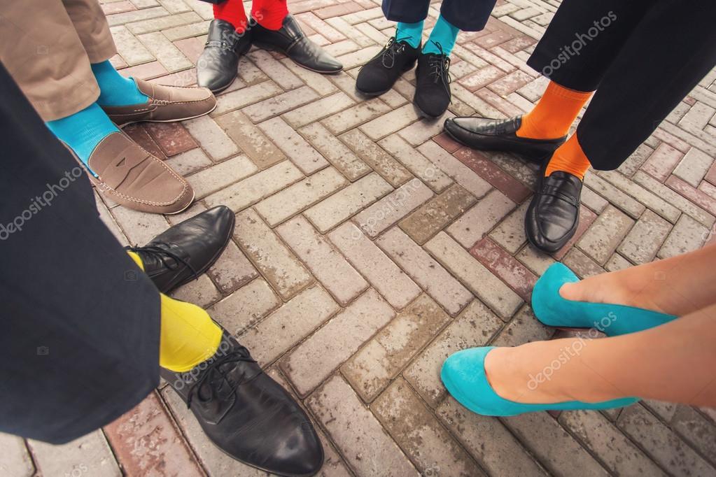 Lustige Hochzeitsschuhe Und Socken Stockfoto C Baimiro 81162096