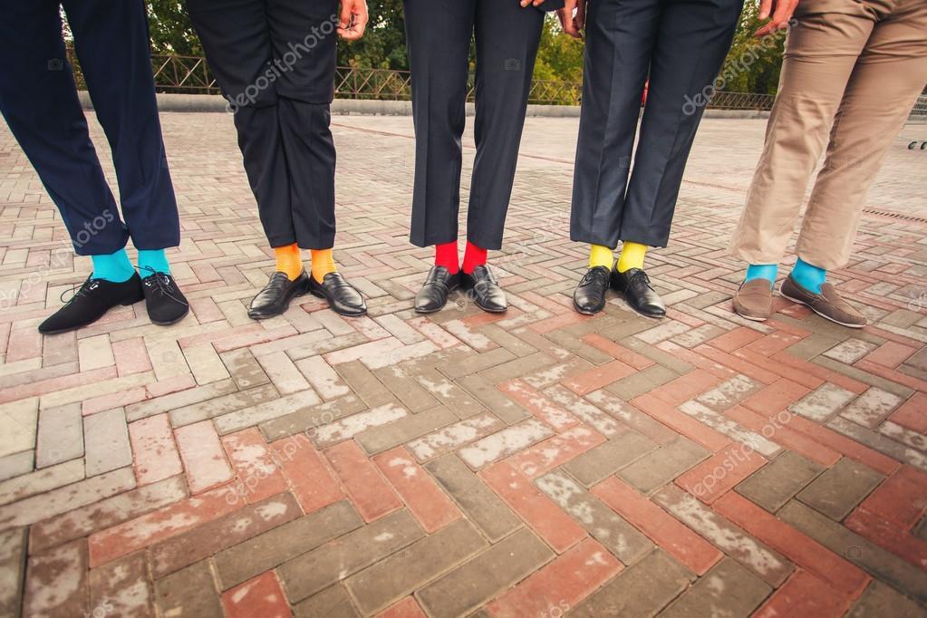Lustige Hochzeitsschuhe Und Socken Stockfoto C Baimiro 81162120
