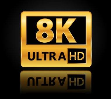 8k ultra hd sign