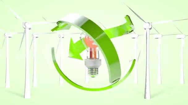 Koncept ekologické výroby a ekologického využití energie. 3D vykreslování