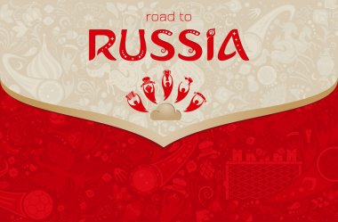 Road to Russia, vector illustration