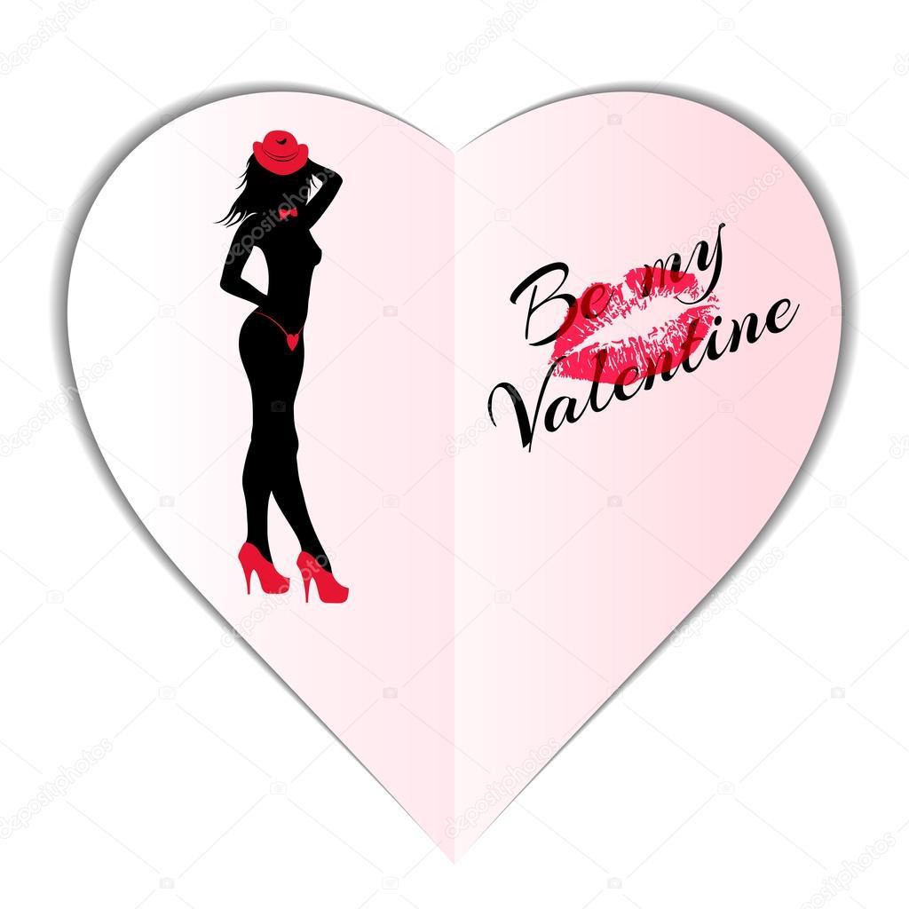 Werden Sie meine Valentine, Vorlage für Web, Card, banner ...