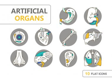 Flat icons - artificial organs 8