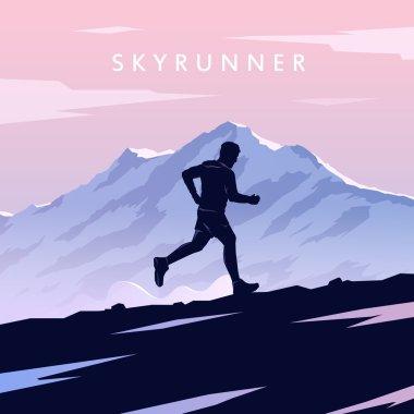 Skyrunning vector poster