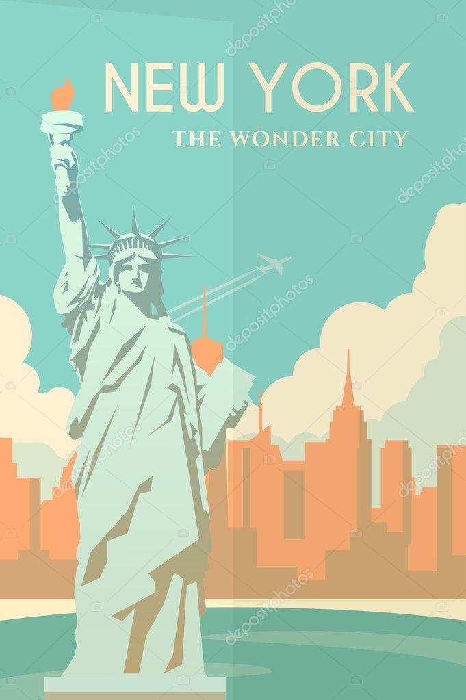 Art Deco Poster New York.Art Deco Poster New York Stock Vector C Mikalaimanyshau 104696086