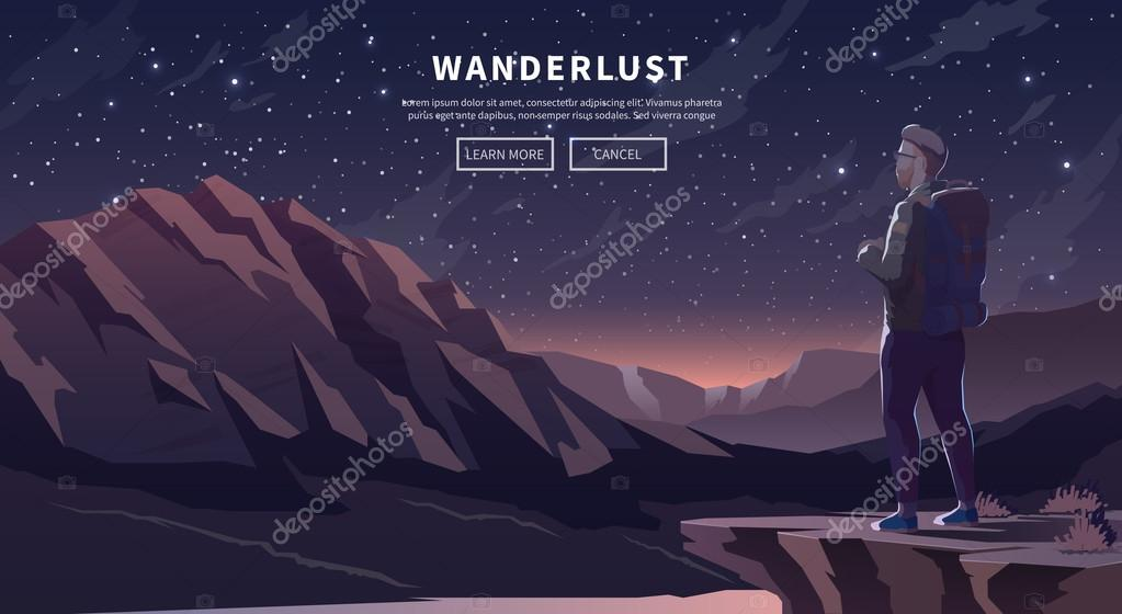 Flat vector travel web banner