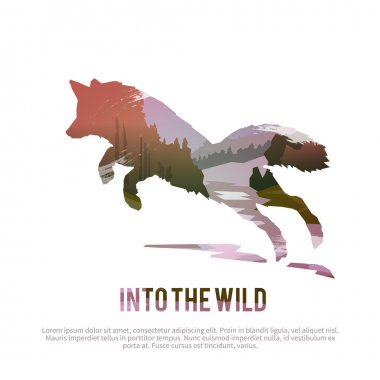 Into wild nature concept