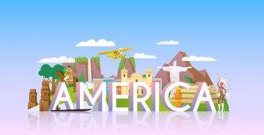Vacations in South America concept