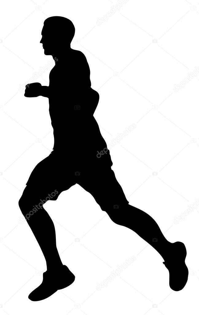 silhueta de homem correndo vetor de stock predragilievsi 83829820