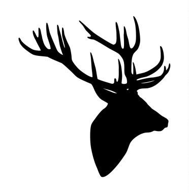 Deer head silhouette