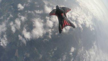Wingsuit skydiving in Norway