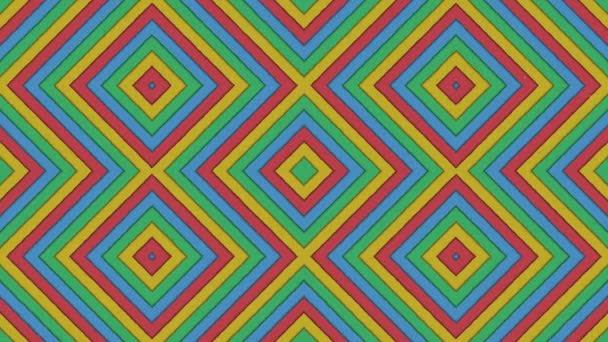 Abstract Shapes Rhombus Colorful Stripes Seamless Looping Animated Texture Background