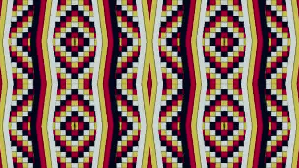 Kaleidoscopic Shapes Stripes and Squares Colorful Seamless Looping Background