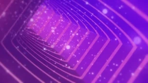 Varrat nélküli hurok a háttér narancssárga kozmikus részecskék