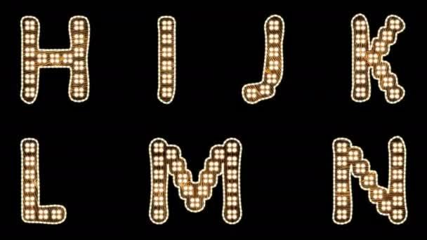 Alphabet Light Bulb Letters H-N with Alpha-Matte