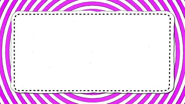 Pink Stripes Rounds White Rectangle Shape Background For Text