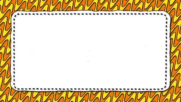 Narancssárga folyadék csíkos fehér téglalap alakú háttér szöveg