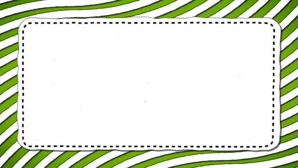 Zelené pruhy bílý obdélník obrazec pozadí