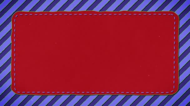 Blue Stripes Red Rectangle Shape Background