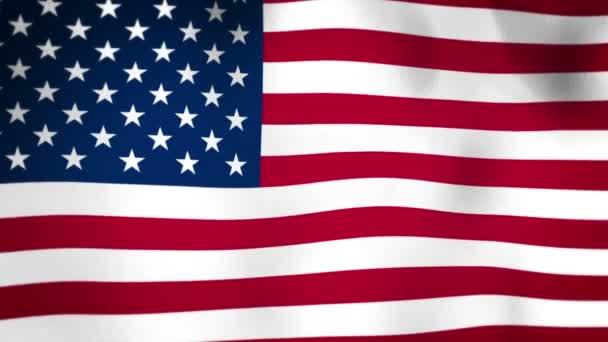 Flag of United States of America Vignette Seamless Looped