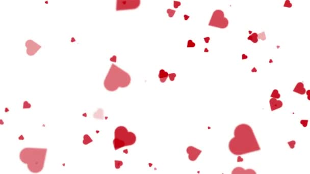 Flying Hearts Valentines Day Romantic Seamless Looped Background Texture