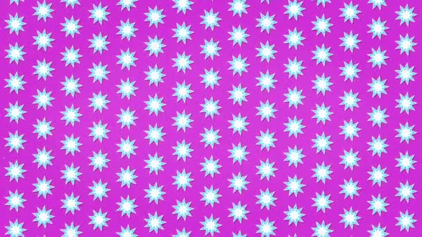 White Stars Pink Clean Background Animation Seamless Looped Texture