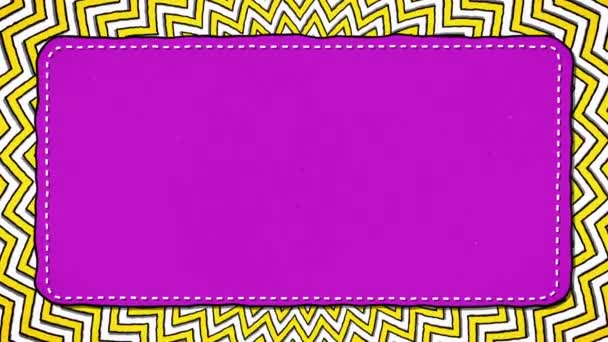 Yellow Stripes Rounds ZigZag Pink Rectangle Shape Glamour Background For Text