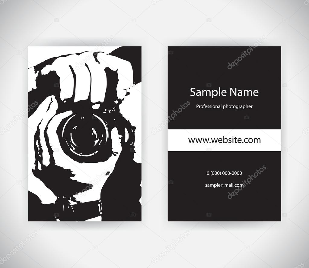 Vector business card for photographer set template stock vector vector business card for photographer set template stock vector reheart Image collections