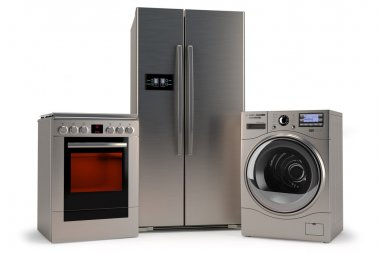 domestic appliances,Washer, refrigerator, stove