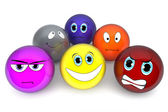 Reihe von 3d Emoticons smilies