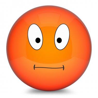 smiley orange 3d