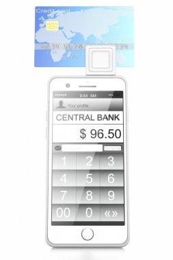 Smartphone,bank card
