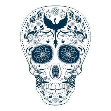 Dia de Muertos Tattoo Skull Ornate Day of The Dead
