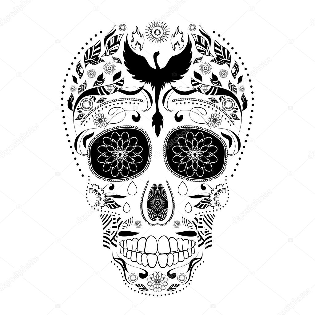 Marcos Dia De Muertos Para Colorear Dia De Muertos Del Tatuaje Del