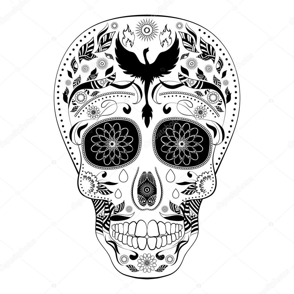 Dibujos Calaveras Mexicanas Dia De Muertos Tatuaje Calavera Día