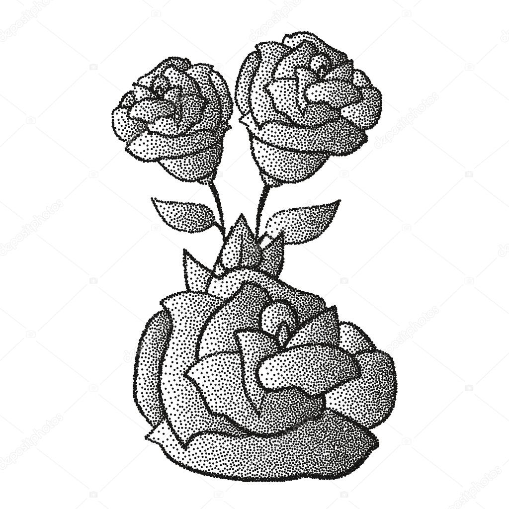 ᐈ Dripping Rose Tattoo Stock Illustrations Royalty Free Single Stem Rose Vectors Download On Depositphotos